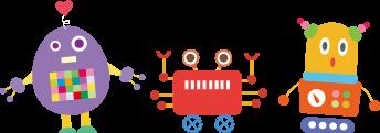 3体のロボット
